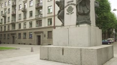Vytautas Great Monument in Kaunas, Lithuania Stock Footage