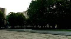 Monument to Rainis, park Esplanade, Riga, Latvia Stock Footage