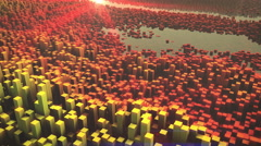 Abstract 3d landscape. 4k Stock Footage