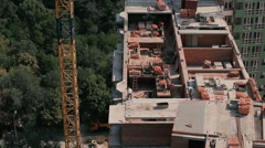 The workers build a new house Stock Footage
