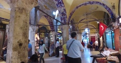ISTANBUL, TURKEY - 4 APRIL  2016:central and largest city in the Grand Bazaar Stock Footage