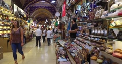 :central and largest city in the Grand Bazaar Stock Footage