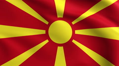 Macedonia Flag Background 4k Stock Footage