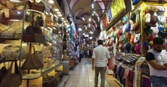 ISTANBUL, TURKEY - central and largest city in the Grand Bazaar Stock Footage