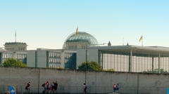 Paul-Lobe-Haus is building of German Bundestag Stock Footage