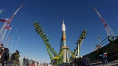 Time lapse of the Soyuz rocket booster Stock Footage