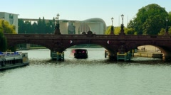 Moltke Bridge over Spree River in Berlin, Germany Stock Footage