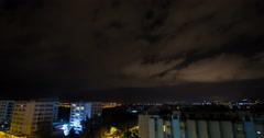 Ibiza City Algarb Clouds Stock Footage