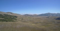 Aerial, Gornji Unac Farmlands, Montenegro Stock Footage