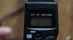 Interval timer counts down Stock Footage