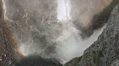 Voringfossen waterfall in Norway. Stock Footage