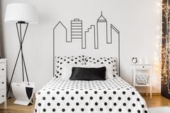 Bedroom arrangement ideas Stock Photos