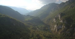 Aerial, Tara River Canyon, Montenegro Stock Footage
