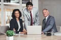 Together they can achieve business success Stock Photos