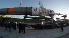 The Soyuz rocket booster Stock Footage