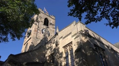 Sunderland Minister, old English church, north east England Stock Footage