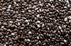 Background chia seeds Stock Photos