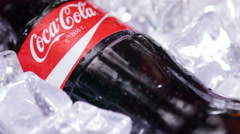 Coca Cola bottle photographed rotation Stock Footage