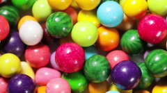 Multi-colored chewing gum Stock Footage