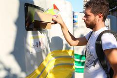 Recycling act Stock Photos
