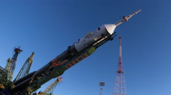 The Soyuz rocket booster Stock Footage