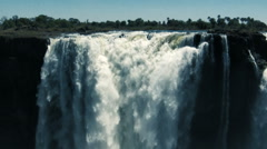 Victoria Falls detail Stock Footage