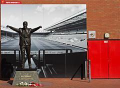 Statue of Bill Shankly at Liverpool Football Club's Stadium Kuvituskuvat