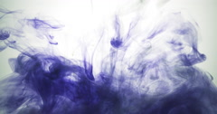 Dark blue ink cloud floating in water Stock Footage