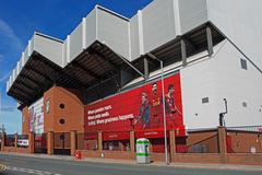 LIVERPOOL UK, 17TH SEPTEMBER 2016. Liverpool Football Club's new giant mural Stock Photos