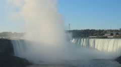4K Niagara Falls Horseshoe Falls Mist Stock Footage