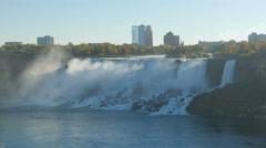 4K Niagara Falls American and Bridal Veil Falls Stock Footage