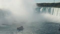 4K Niagara Falls Maid of the Mist Horseshoe Falls Stock Footage