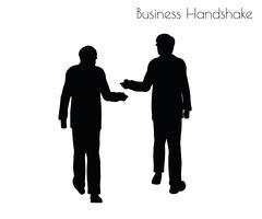 Man in  Business Handshake pose Stock Illustration