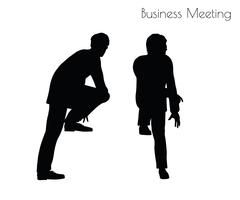 Man in  Business Meeting pose Piirros