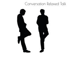 Man in Conversation Relaxed Talk  pose Stock Illustration