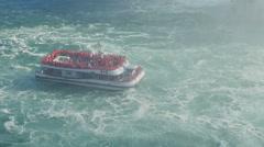 4K Niagara Falls Hornblower Niagara Cruises in Current Stock Footage