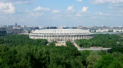 """Sports arena """"Luzhniki"""", the view from the observation deck on the Sparrow hills Stock Footage"""