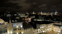 Panorama of the city at night Stock Footage