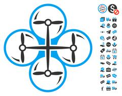 Drone Screws Icon With Free Bonus Stock Illustration