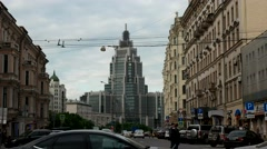 Office building in Moscow Stock Footage