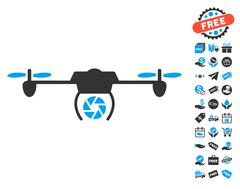 Shutter Spy Airdrone Icon With Free Bonus Stock Illustration
