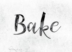 Bake Concept Painted in Ink Stock Illustration