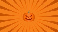 Halloween Pumpkins Radial Rays Stock Footage
