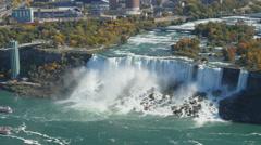 4K Niagara Falls American Falls Aerial View Stock Footage