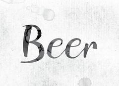 Beer Concept Painted in Ink Stock Illustration