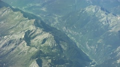 Flying above the alps (4K footage) Stock Footage