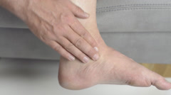 Foot pain and ankle pain Stock Footage