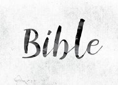 Bible Concept Painted in Ink Stock Illustration