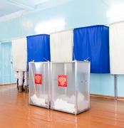 Local polling station, presidential elections in Russia Stock Photos