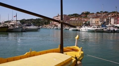Harbor of Cassis in France Stock Footage